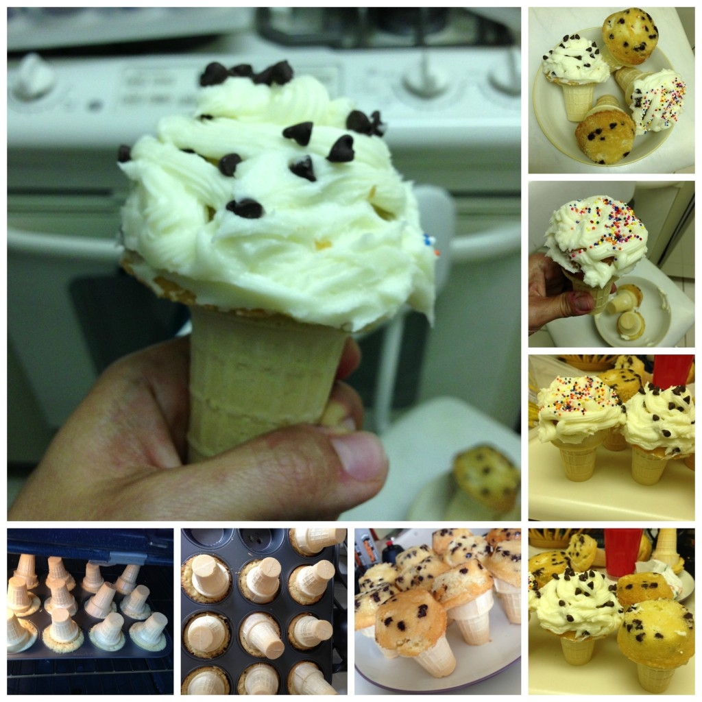 ice cream cone cupcake Collage